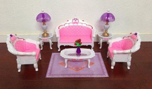 Barbie Tamaño Dollhouse Muebles - Sala Gran Salón Sofá - $ 91.777 en ...