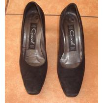 Zapato Gamuza Negro Gacel N° 35
