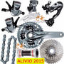 Grupo Shimano Alivio 2015 M4050 27 Vel S/ Cubos E Freios