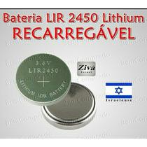 Bateria Recarregável Lir 2450 De 3,6 Oximetro + Frete Grátis