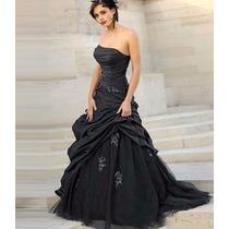 Vestido De Noiva Ou Festa Preto - Temos Outras Cores!