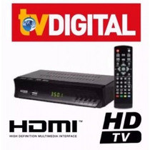Kit 5 Conversor Tv Digital Função Gravador Full Hd Usb Rca