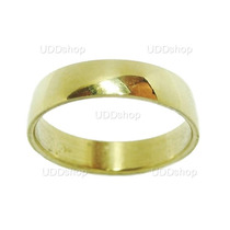 Anel Aliança Compromisso Dourada Em Aço Inox Unisex