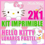 Kit Imprimible Hello Kitty Lunares Pastel 2x1