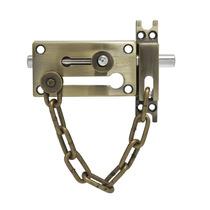 Pasador De Sobreponer Cadena Latón Antiguo Lock