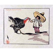 Lienzo Tela Un Regaño Común Dibujo México Antiguo Arte 50x61