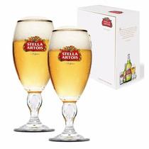 2 Copos Taças Cálice Stella Artois 250 Ml Cerveja + Caixa