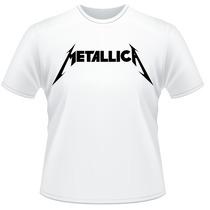 Camiseta Metallica Rock Metal Anos 80 Camisa