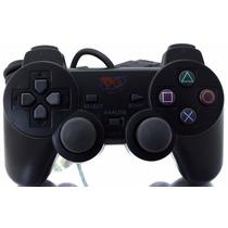 Controle Play Game Preto Analogico Com Fio Para Ps2 A7713