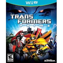 Transformers Prime Nintendo Wii U Nuevo Y Sellado Videojuego