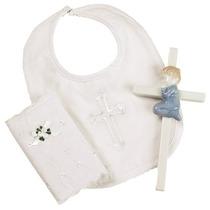 Set Baby Boy Elegante Del Bautizo Regalo Incluye 100% Algod