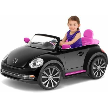 Carrito Carro Electrico Montable Beetle 2 Asientos Negro