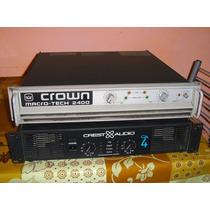 Potencia Crown Macro Tech 2400 Impecable Mirala !!! Qsc