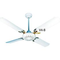 Ventilador De Techo Codini Blanco Porta Paleta Dorado V4b