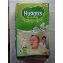 ¡oferta! Hiperpack Pañales Huggies Active Sec Talle G