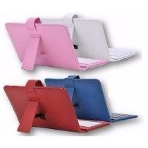 Capa Case Teclado Tablet 7´ Várias Cores Com 2 Adaptador
