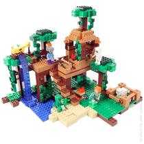 Minecraft The Jungle Tree House Casa 21125 Lego Compatível