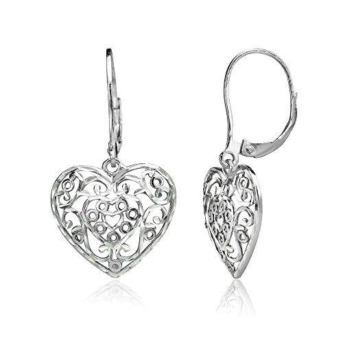 5149356ccd2f Plata De Ley Corte De Diamante Filigrana Corazón Cuelga Pal -   124.990 en  Mercado Libre