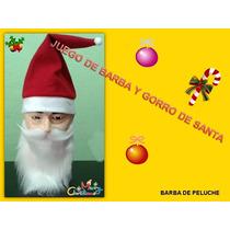 Barba Con Bigote Y Gorro De Santa Claus Paquete Con 10 Pz