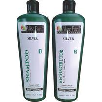Kit Escova Progressiva Silver S/formol Carbocisteína 1litro