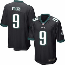 Camiseta Nfl Philadelphia Eagles Alternate Black 9 Foles