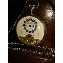 Incrível Relógio Hebdomas Prata Pailloné Enamel - Swiss/1920
