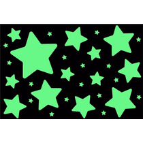 Kit Estrellas Grandes Fluorescentes Brillan En La Obscuridad
