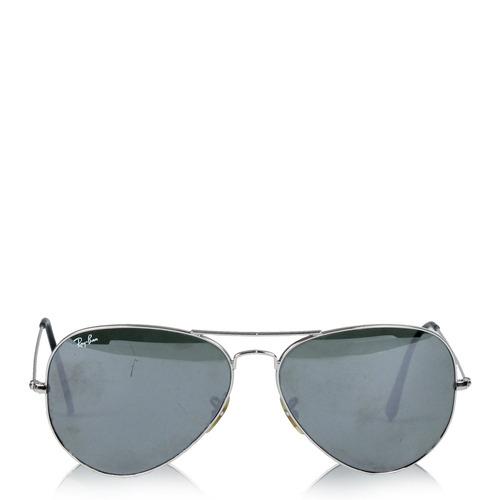 25e5a5850fc1d Óculos Ray Ban Aviator Prateado Ray Ban - R  290