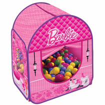 Barbie Barraca Infantil Com 100 Bolinhas E Bolsa Transporte