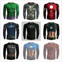 Camisetas Super Herói Capitao America Homem De Ferro Batman