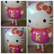 Hello Kitty Globo Infla Con Helio O Aire 73 Cm. Caminante