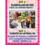 Kit Imprimible Letras 3d Personalizable - Corporeas Editable