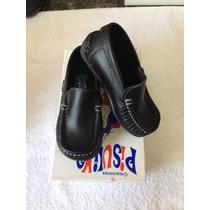 Zapato Negro Casual Colegial Niños Talla 21 Al 24
