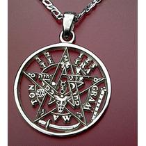 Protect Dije Tetragramaton Pentagrama Reforzado Plata Solida