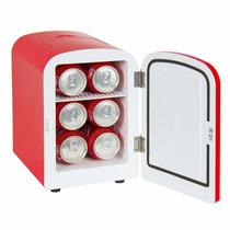 Mini Refrigerador 6 Latas Frio Y Calor Para Auto Bote O Casa