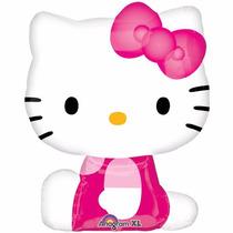 2 Globos Metálicos Jumbo De 28 Pulgadas Hello Kitty, Fiesta