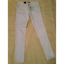 Jeans Blancos Para Dama 27x32 Marca Nicole Importados