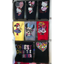 Franelas Para Niña, Kitty,minnie,frozen,marca University