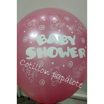 10 Globos Baby Shower Nena Nene Beba Bebe Candy Bar Cumple