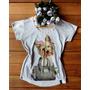 Camiseta Feminina T-shirt Blusa - Cachorro Bolsa / Pedras