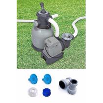 Bomba Filtro Intex Areia Krystal Clear 110v Par Adapt Coador
