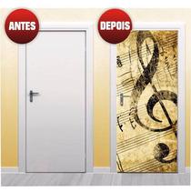 Adesivos Decorativo Para Porta Nota Musical X4adesivos (p24)