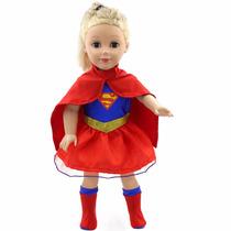 Kit Fantasia Boneca American Girl - Super Girl Kit Completo