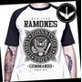 Camiseta Raglan Ramones Ou Baby Look Punk Rock Banda