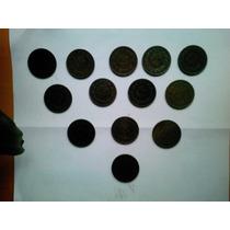 Cinco Centavos Cobre Monograma Varias Fechas