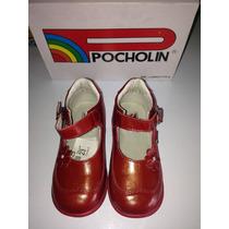 Zapatos De Niña Pocholin 100% Cuero Talla 23 Originales!!