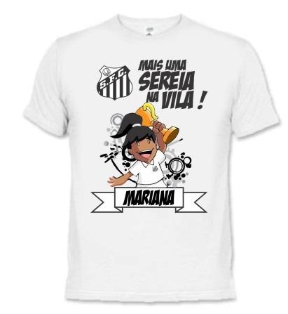 75e5e5b047fc7 Camiseta E Body Bebê - Santos Futebol Peixe - Personalizada - R  34 ...