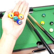 Mesa Sinuca Bilhar Snooker Bolas Taco E Giz