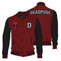 Deadpool Varsity Jacket Mujer Envío Gratis Mascara De Latex