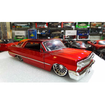 1:24 Chevrolet Impala 1963 Rojo Candy Jada Ranfla Display